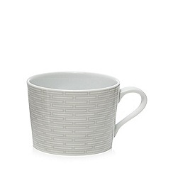J by Jasper Conran - Grey geometric print 'Beckton' tea cup