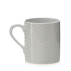 J by Jasper Conran - Grey geometric print 'Beckton' mug