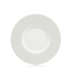J by Jasper Conran - 'Beckton' grey geometric tea saucer