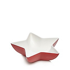 At home with Ashley Thomas - Red porcelain star bowl
