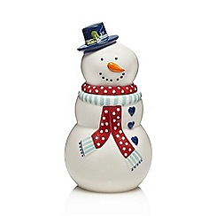 At home with Ashley Thomas - Porcelain snowman biscuit jar
