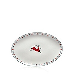At home with Ashley Thomas - Porcelain large oval Christmas platter