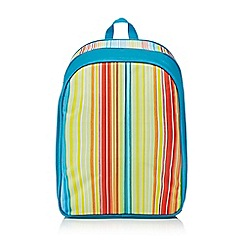 Ben de Lisi Home - Multi-coloured striped print backpack
