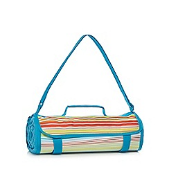 Ben de Lisi Home - Blue fleece picnic rug with attached holdall
