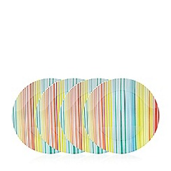 Ben de Lisi Home - Pack of four multi coloured striped print dinner plates