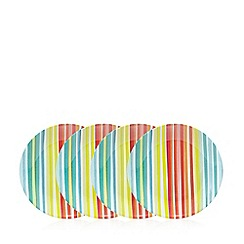 Ben de Lisi Home - Pack of four multi coloured striped print side plates
