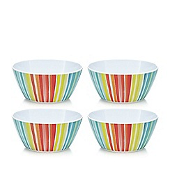 Ben de Lisi Home - Set of four multi coloured striped print melamine side plates
