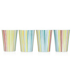 Ben de Lisi Home - Set of 4 multi-colour tumbler cup