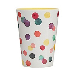 At home with Ashley Thomas - Multi-coloured spot print tumbler