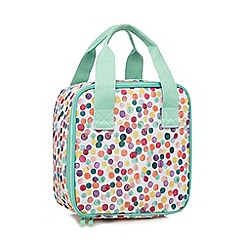 At home with Ashley Thomas - Light green spot print lunch bag