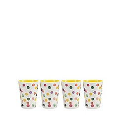 At home with Ashley Thomas - Set of 4 yellow spot print tumblers