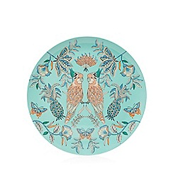 Butterfly Home by Matthew Williamson - Aqua bird print platter