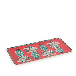 Butterfly Home by Matthew Williamson - Pink pineapple print tray