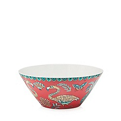 Butterfly Home by Matthew Williamson - Multi-coloured printed salad bowl