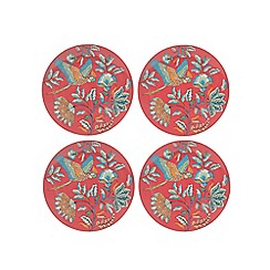 Butterfly Home by Matthew Williamson - Pack of four pink bird print side plates