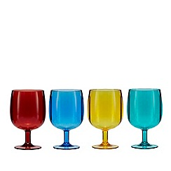 Ben de Lisi Home - Set of four multi-coloured wine glasses