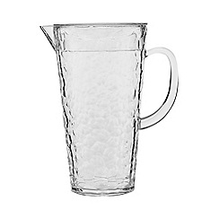 Home Collection - Hammered clear plastic jug