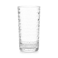 Home Collection - Plastic hammered hi-ball glass