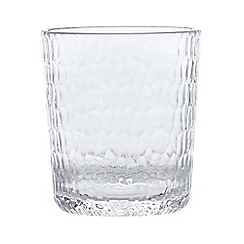Home Collection - Plastic hammered tumbler glass