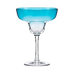 Butterfly Home by Matthew Williamson - Blue margarita glass