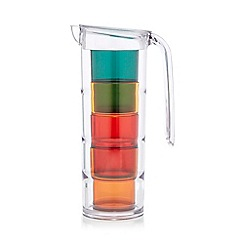 Ben de Lisi Home - Multi-coloured jug and tumbler set