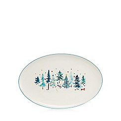 At home with Ashley Thomas - White large Christmas platter