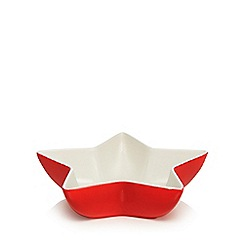 Home Collection - Red and white star Christmas bowl