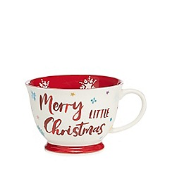 At home with Ashley Thomas - White and red 'Merry Little Christmas' mug
