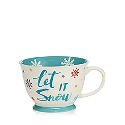 At home with Ashley Thomas - White 'Let It Snow' mug
