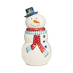 At home with Ashley Thomas - White snowman Christmas cookie jar