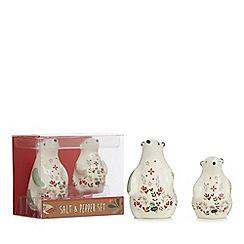 Home Collection - White polar bear Christmas salt and pepper shaker set