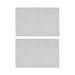 Home Collection - Pack of 2 silver metallic placemats