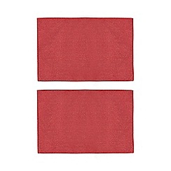 Home Collection - Set of two red metallic placemats