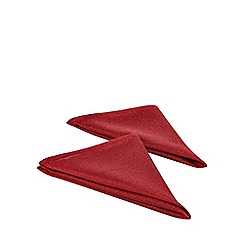Home Collection - Pack of 4 red metallic napkins