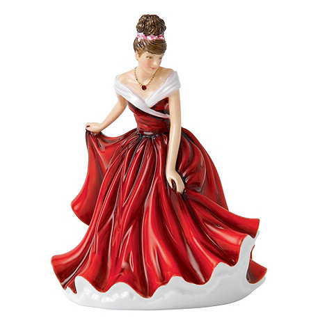 Royal Doulton - January Garnet Birthstone petite figurine