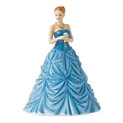 Royal Doulton - March Aquamarine Birthstone petite figurine