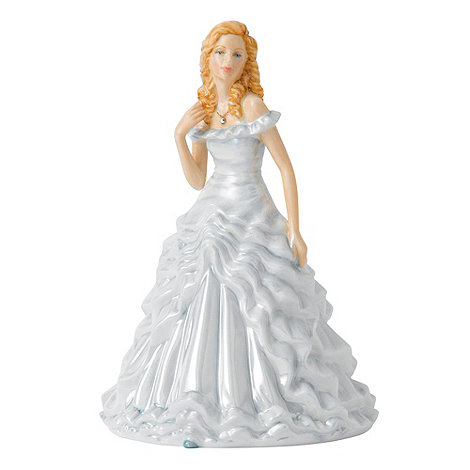 Royal Doulton - April Diamond Birthstone petite figurine
