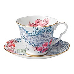 Wedgwood - Fine bone china 'Butterfly Bloom' blue cup and saucer