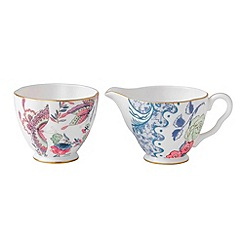Wedgwood - Fine bone china butterfly cream and sugar jug set