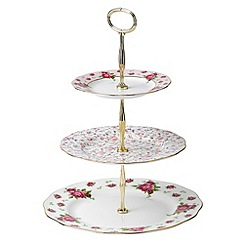 Royal Albert - Fine bone china 'Country Rose' 3 tier cake stand