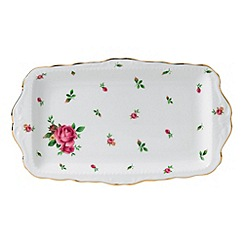 Royal Albert - Fine bone china 'Country Rose' white sandwich tray