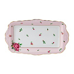 Royal Albert - Fine bone china 'Country Rose' sandwich tray