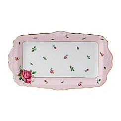 Royal Albert - Fine bone china 'Country Rose' sandwich tray