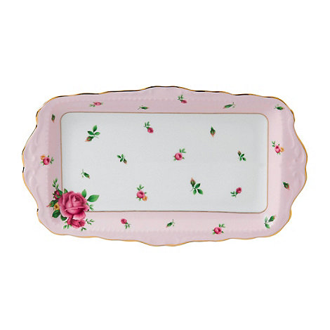 Royal Albert - Fine bone china +Country Rose+ sandwich tray