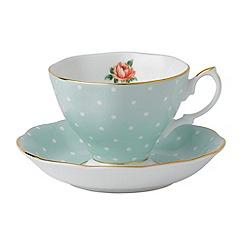 Royal Albert - Fine bone china 'Polka Rose' tea cup and saucer