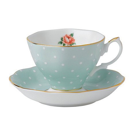 Royal Albert - Fine bone china +Polka Rose+ tea cup and saucer