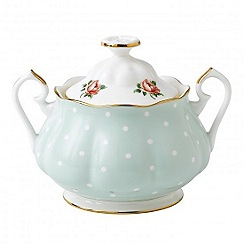 Royal Albert - Royal Doulton polka rose green sugar pot