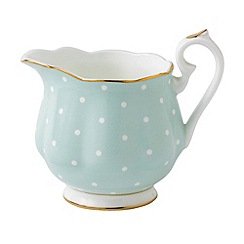 Royal Albert - Royal Doulton polka rose green creamer