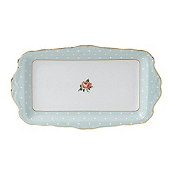 Royal Albert - Fine bone china 'Polka Rose' sandwich tray