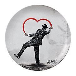 Royal Doulton - Street Art 'Love Vandal' dinner plate